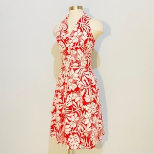 LIZ CLAIBORNE Hawaiian Print Shirt Dress 4